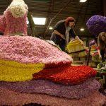 Het bloemsteken (opbouw praalwagens)